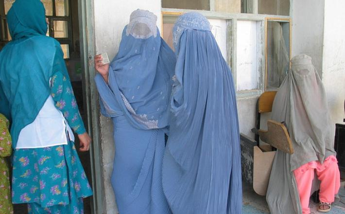 Afghanistan women vote