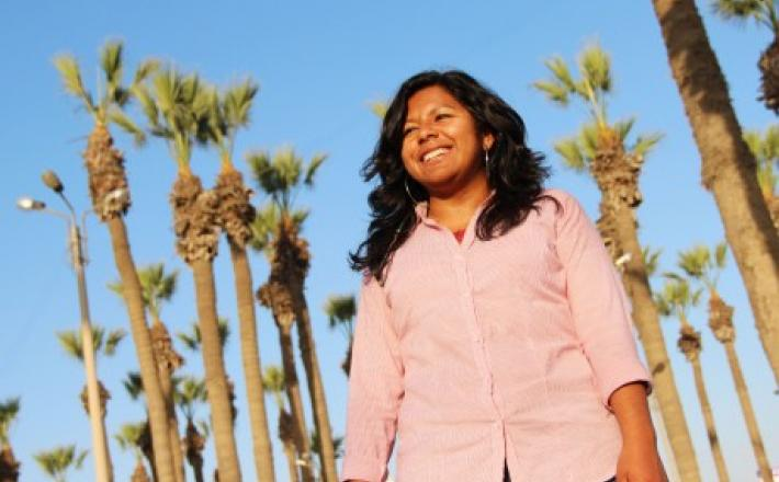 Angie Campos, joven líder afrodescendiente. ©PNUD