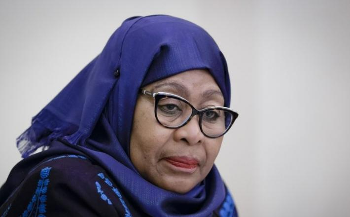 Samia Suluhu Hassan was sworn in at State House in Dar es Salaam (file image)