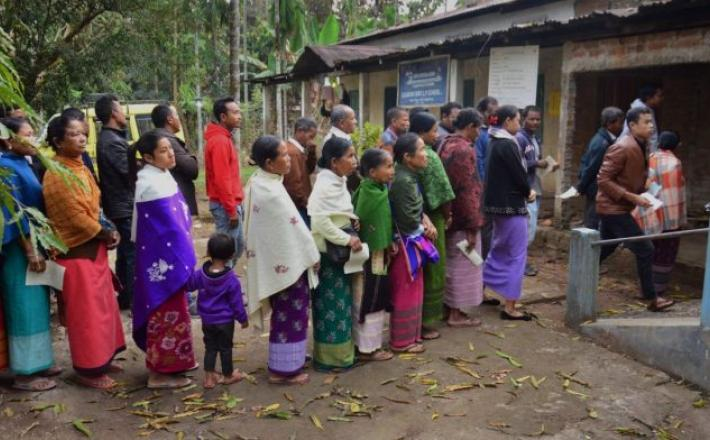 Representational image | Villagers wait in queues to cast their votes for the Meghalaya assembly election | PTI