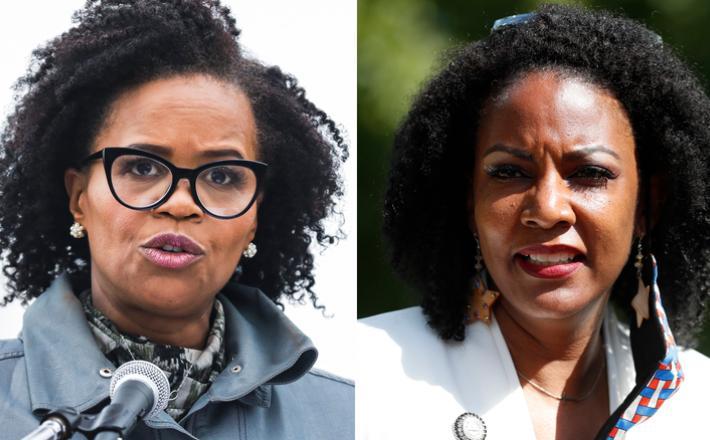 Kim Janey and Tishaura Jones, The Boston Globe via Getty Images and AP