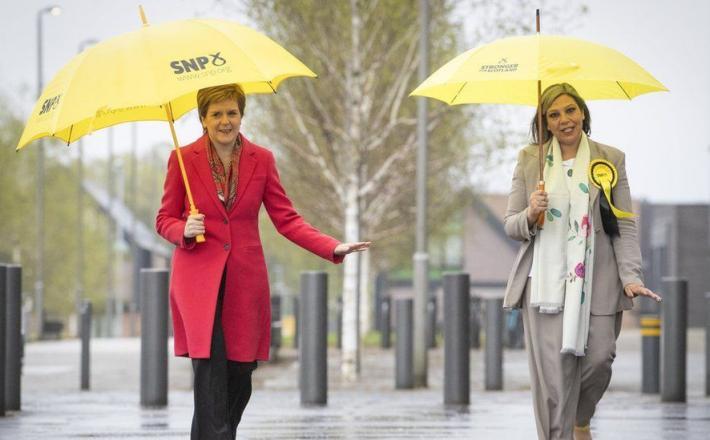 First Minister Nicola Sturgeon and Scotland's first female Muslim MSP Kaukab Stewart PA
