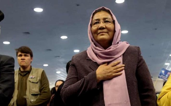 Habiba Sarabi was the only woman in the government's 12-strong team at talks in Moscow on Thursday. The Taliban delegation had none. Photograph: Massoud Hossaini/AP