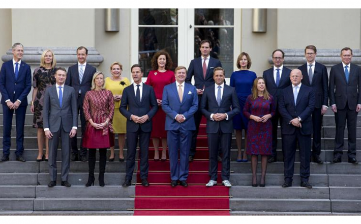 The last cabinet of the last Dutch government, pictured here in 2017. -Copyright Credit:AP