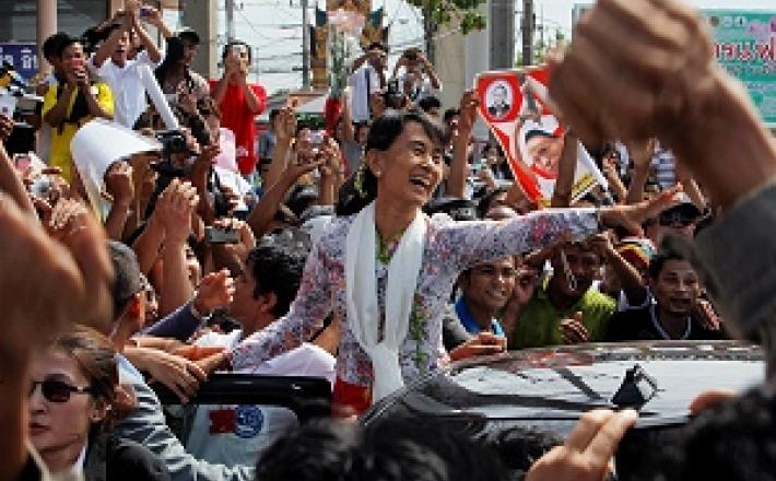 Aung San Suu Kyi, the most well-known of Myanmar's 28 women MPs. ©Reuters/S. Sukplang
