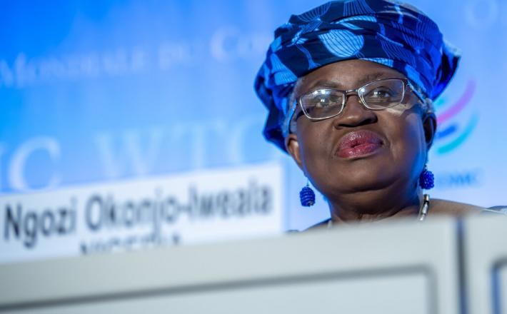 Ngozi Okonjo-Iweala of Nigeria is poised to become the World Trade Organization's first Black and first female leader.Credit...Martial Trezzini/EPA, via Shutterstock