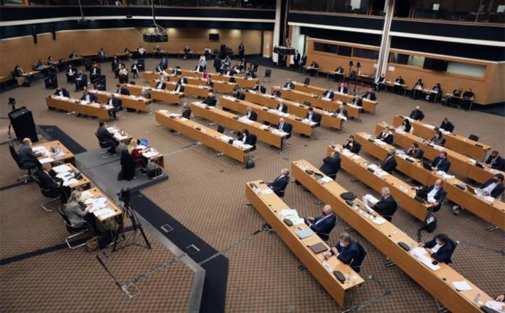 The previous House of Representatives in session