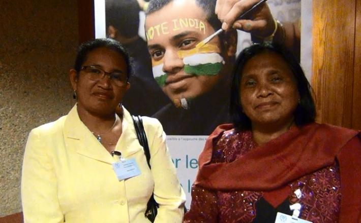 Lydia Rahantasoa et Francette Harifanja Razafindrakoto