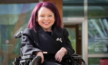 Labour's Pam Duncan-Glancy, the first permanent wheelchair user to be elected to the Scottish parliament. Photograph: Jane Barlow/PA