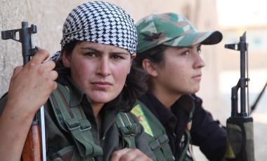 Mujeres combatientes de Rojava
