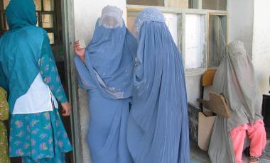 Afghanistan women vote