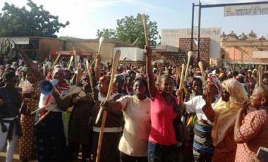 Manifestation au Burkina Faso contre la modification de l'article 37-©LeFaso