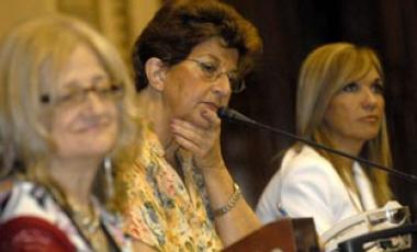 Glenda Rondán, Margarita Percovich y Beatriz Argimón