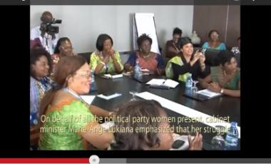 Congolese women politicians meet CAR president