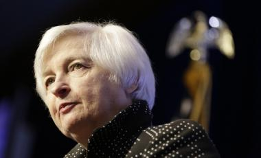 Janet Yellen, then the chair of the Federal Reserve, addressed the Economic Club of Washington in December 2015.Joshua Roberts / Reuters file