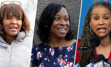 (L-R) Kathy Barnette, Andrea Campbell and Maya Wiley are all expected to run in the 2022 midterms.AP / Getty file