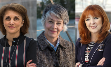 Three women city on Calgary city council ahead of the 2021 municipal election: (L to R) Jyoti Gondek, Druh Farrell and Diane Colley-Urquhart. Supplied by the City of Calgary