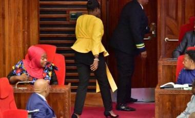 The MP was ordered to leave parliament after a complaint about her trousers