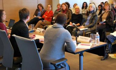 Audience members listen to a panel discussion titled Beijing +20: Gender, Power and Decision-Making, which was hosted by NDI and the Society for International Development. Credit: Sarah Kincaid