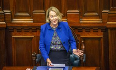 Michelle Roberts was elected as the first female speaker of WA Parliament.CREDIT:THE WEST AUSTRALIAN/KELSEY REID