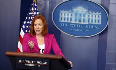 White House Press Secretary Jen Psaki is one of the highest paid staffers in the Biden administration. (PHOTO BY KEVIN DIETSCH/GETTY IMAGES)