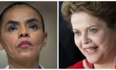 Marina Silva and Dilma Roussef