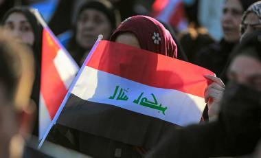 Lors d'un rassemblement en Irak, le 7 octobre 2021. AHMAD AL-RUBAYE/AFP