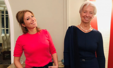 Léa Salamé et Christine Lagarde © Radio France / Paola Puerari