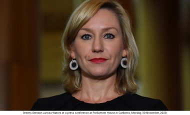 Greens Senator Larissa Waters at a press conference at Parliament House in Canberra, Monday, 30 November, 2020. (AAP Image/Mick Tsikas) NO ARCHIVING Source: AAP