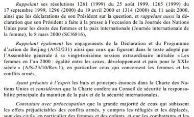 Résolution 1325 (2000)