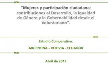 """""""Mujeres y participación ciudadana: contribuciones al Desarrollo, la Igualdad de Género y la Gobernabilidad desde el Voluntariado""""."""