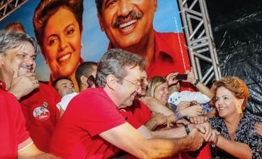 Presidente Dilma Roussef passe le premier tour