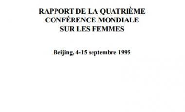 Rapport de la quatrième conférence mondiale sur les femmes