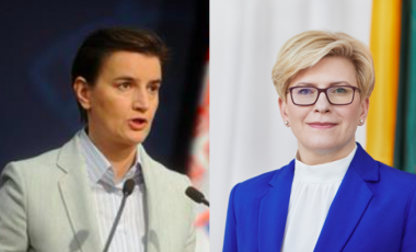 Serbian Prime Minister Ana Brnabic (left) and Lithuanian Prime Minister Ingrid Simonyte (right) have both appointed gender-balanced cabinets.