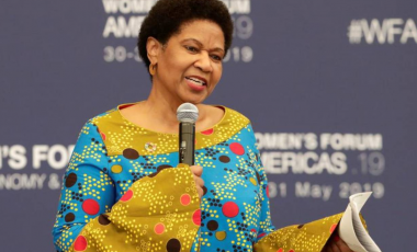 FILE PHOTO: Executive Director of UN Women Phumzile Mlambo-Ngcuka attends the Women's Forum Americas, at Claustro de Sor Juana University in Mexico City, Mexico, May 30, 2019. REUTERS/Henry Romero