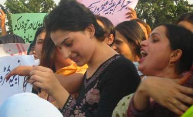 Women protest in Pakistan