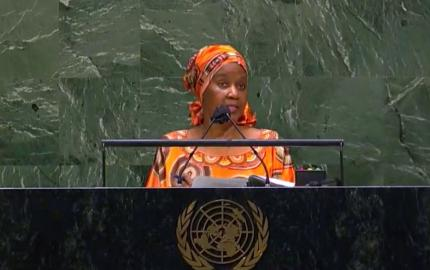 UN Women Executive Director Phumzile Mlambo-Ngcuka addresses the closing of the 65th session of CSW. Photo: UN Web TV (screengrab)