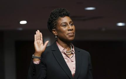 Judge Candace Jackson-Akiwumi is one of the few Black women serving on the United States Court of Appeals. (PHOTO BY KEVIN LAMARQUE-POOL/GETTY IMAGES)