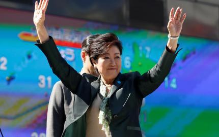 La gouverneure de Tokyo, Yuriko Koike, à Tokyo, au Japon, en 2017. PHOTO / ISSEI KATO / REUTERS