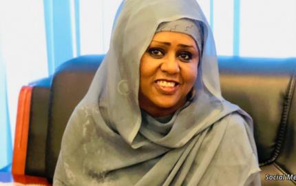FILE - Fawzia Yusuf Haji Adam is seen in photo posted March 7, 2020, on her Twitter.