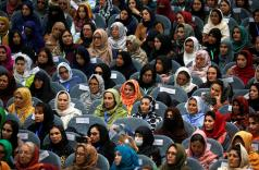 "Afghan women attend a consultative grand assembly, known as Loya Jirga, in Kabul, Afghanistan April 29, 2019. (Reuters/Omar Sobhani)  This article was published in thejakartapost.com with the title ""Why we need more women mediators""."