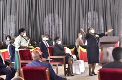 Prime Minister Nabbanja soon after she was confirmed. PHOTO PARLIAMENT MEDIA