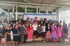 Photo de famille au terme de l'atélier d'echange organisé par le ministère des Droits de la femme © D.R.
