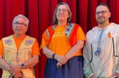 Le 14 juillet, les membres de la Nation crie du Québec ont voté pour élire leur prochain grand chef parmi ces trois candidats : Abel Bosum (à gauche), Mandy Gull-Masty (au centre) et Pakesso Mukash (à droite).  PHOTO : GRACIEUSETÉ : ABEL BOSUM