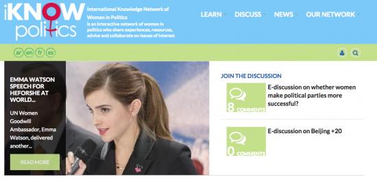 iKNOW Politics website