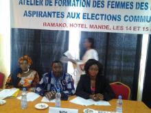 Le NDI prépare les femmes des partis politiques