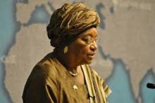 Ellen Johnson Sirleaf, president of Liberia